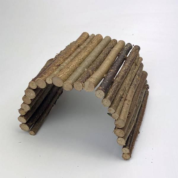 Nagerbrücke aus Haselnussholz