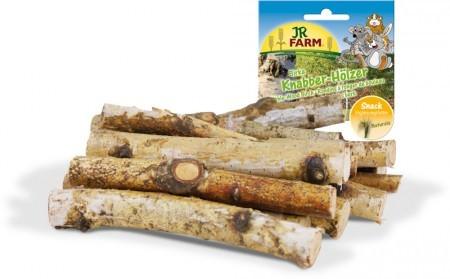 JR Farm Knabber-Hölzer Birke mit Verpackung